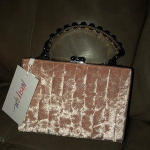 Nasty gal pink velvet box clutch